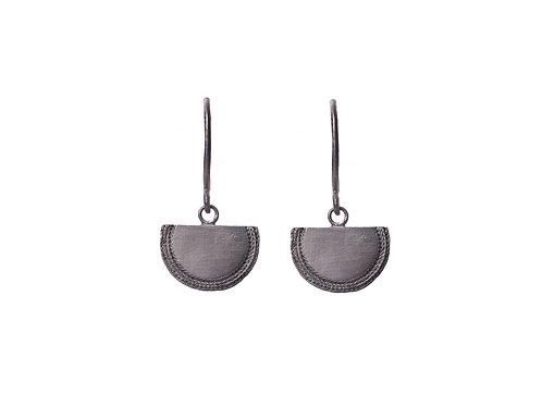 Beltia Earrings Oxidized Silver
