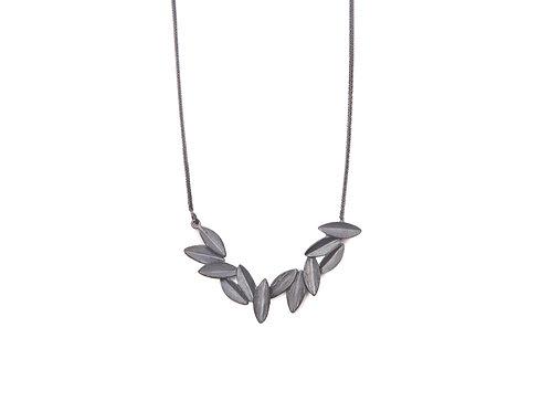 Hera Necklace Oxidized Silver