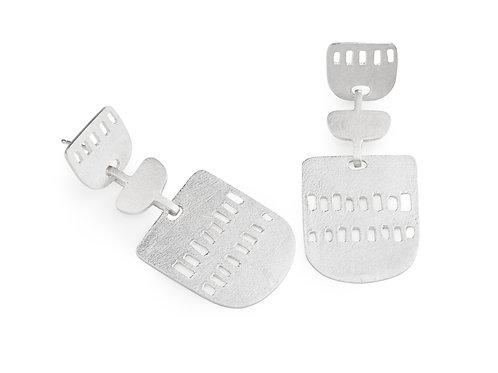 Solar Earrings Silver
