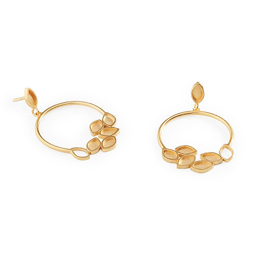 Luzia Earrings Gold Plated Silver