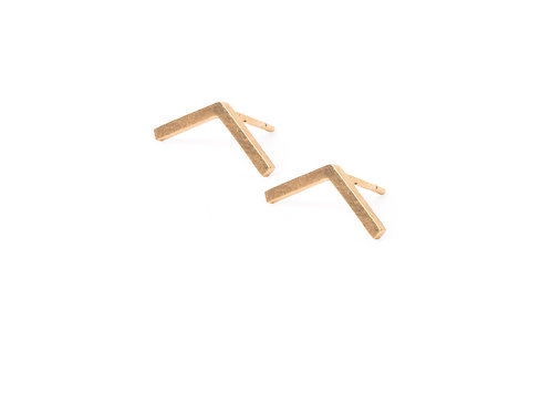 Lineas Earrings Gold Plated Silver