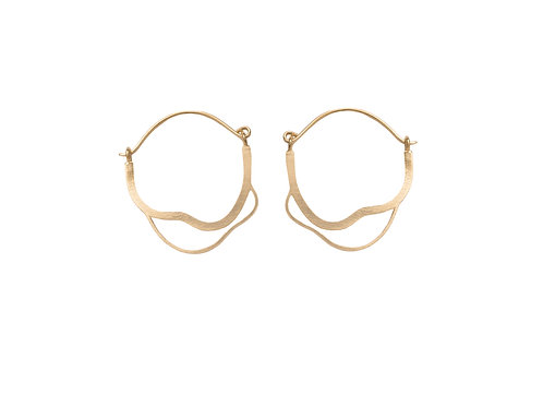 Meatus Earrings Gold Plated Silver