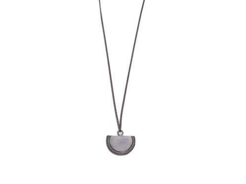 Beltia Necklace Oxidized Silver Long