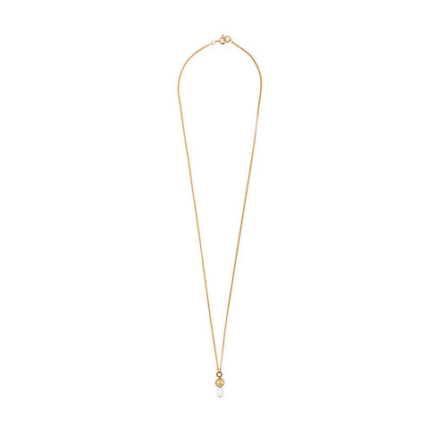 Azura Short Necklace Gold Plated and Pearl