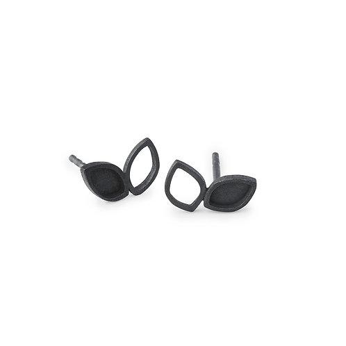 Luzia Earrings Oxidized Silver