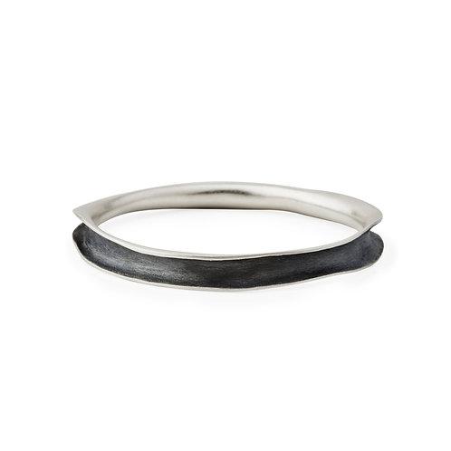 Coa Bracelet Silver & Oxidized Silver