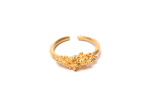 Ilhas Ring Gold Plated Silver