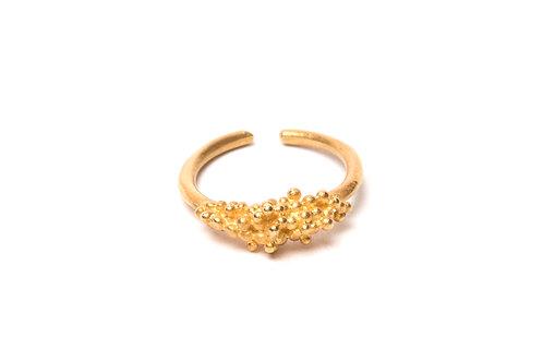 Ilhas Ring Golden Silver