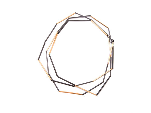 Nova Lineas Necklace Gold Plated Silver
