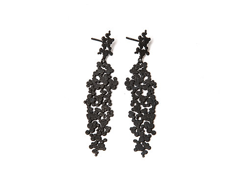 Ilhas Earrings Oxidized Silver