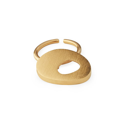 Ellos Ring Gold Plated Silver