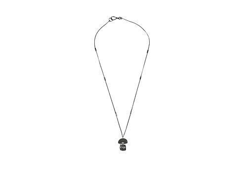 Solar Necklace Oxidized Silver