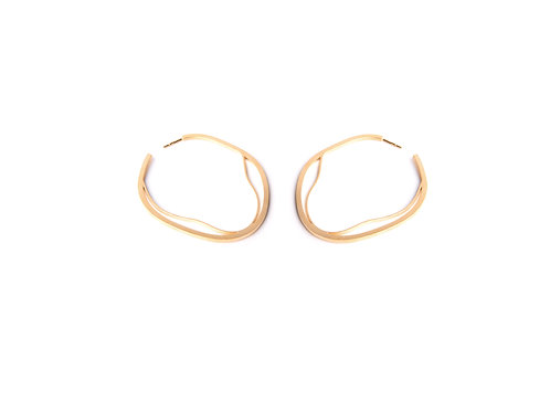 Nova Lineas Earrings Gold Plated Silver