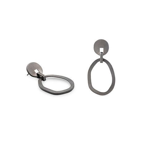 Duoo Oxidized Silver Earrings