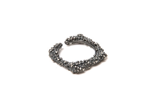 Ilhas Ring Oxidized Silver