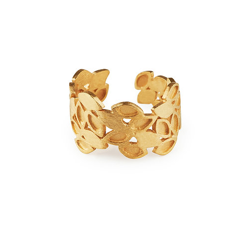 Luzia Ring Gold Plated Silver