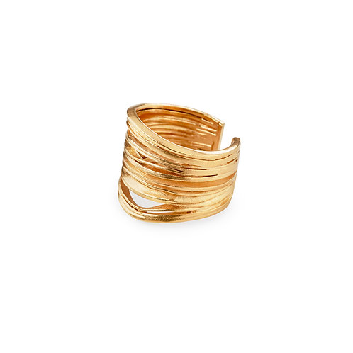 Oya Ring Golden Silver