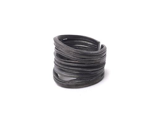 Oya Ring Oxidized Silver