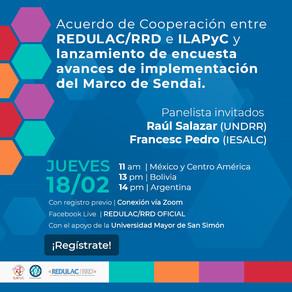 Marco Sendai: Presentación del Acuerdo de Cooperación entre ILAPyC y REDULAC/RRD