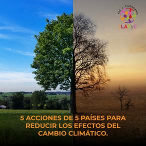 5 acciones de 5 países para reducir efectos del cambio climático