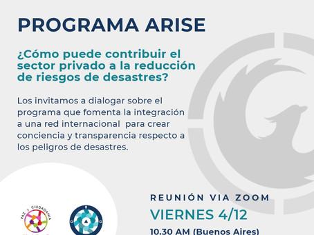 Iniciamos el diálogo para la formación de ARISE Argentina