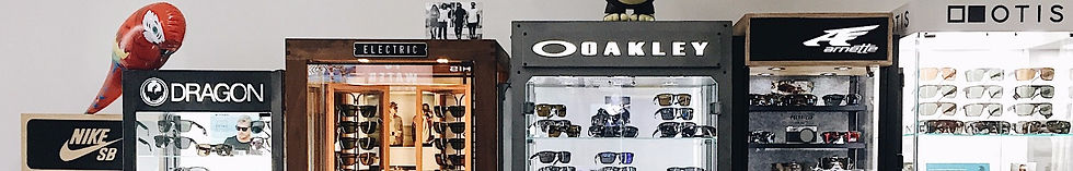 Premium Sunglass Brands including Oakley, Electric Visual, Arnette, Otis, Nike SB, Dragon Optical