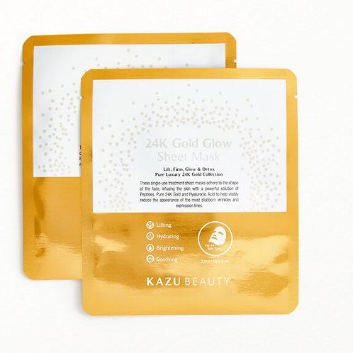 KAZU 24K Gold Glow Sheet Mask Duo