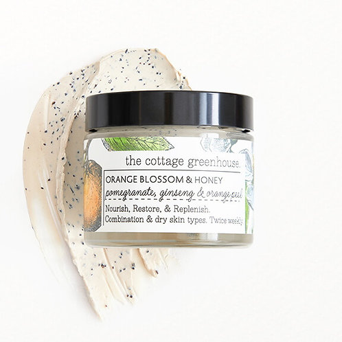 Cottage Greenhouse Orange & Honey Face Mask