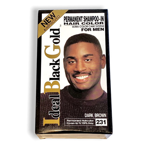 Ideal Black Gold Permanent Shampoo-In Hair Color for Men