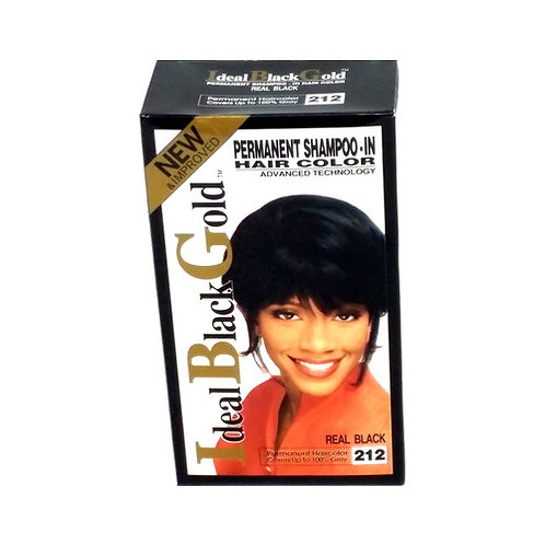 Ideal Black Gold Permanent Shampoo-In Hair Color