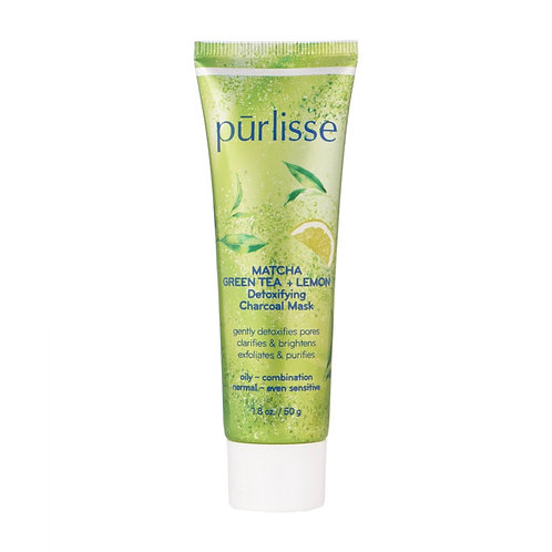 Purlisse Matcha Green Tea + Lemon Detoxifying Charcoal Mask