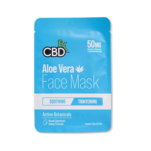 CBDfx Face Mask - Aloe Vera (1 mask)
