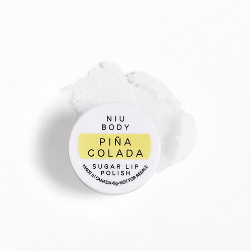 Niu Body Pina Colada Sugar Lip Polish (travel size)