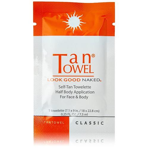 Tan Towel Self-Tan Towelette Classic Half-Body Application For Face & Body