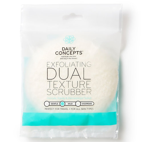 Daily Concepts Exfoliating Dual Texture Scrubber (travel size)
