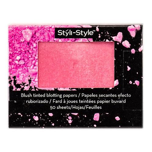 Styli-Style Blush Tinted Blotting Papers