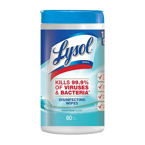 Lysol Disinfecting Wipes - Ocean Fresh (80 count)