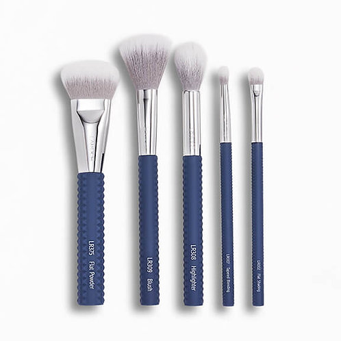 Laruce Cheek & Eyes Brush Set in Denim Blue