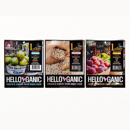 Hello Ganic One a Day Sheet Mask Set