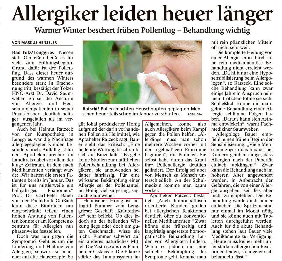 Allergiker leiden heuer länger
