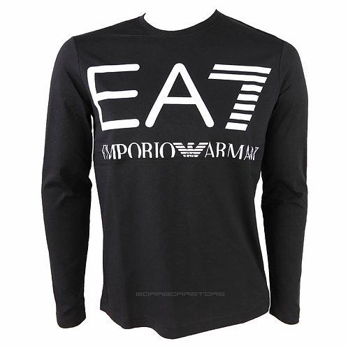 Emporio Armani EA7 T-shirt uomo manica lunga 6KPT30 PJ6EZ nero