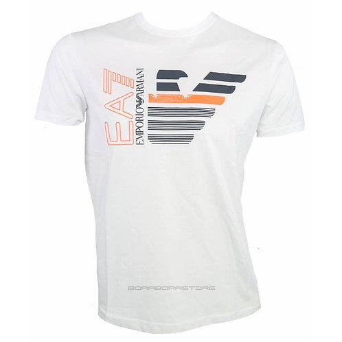 Emporio Armani EA7 T-shirt uomo manica lunga 3KPT22 Pj6EZ bianco