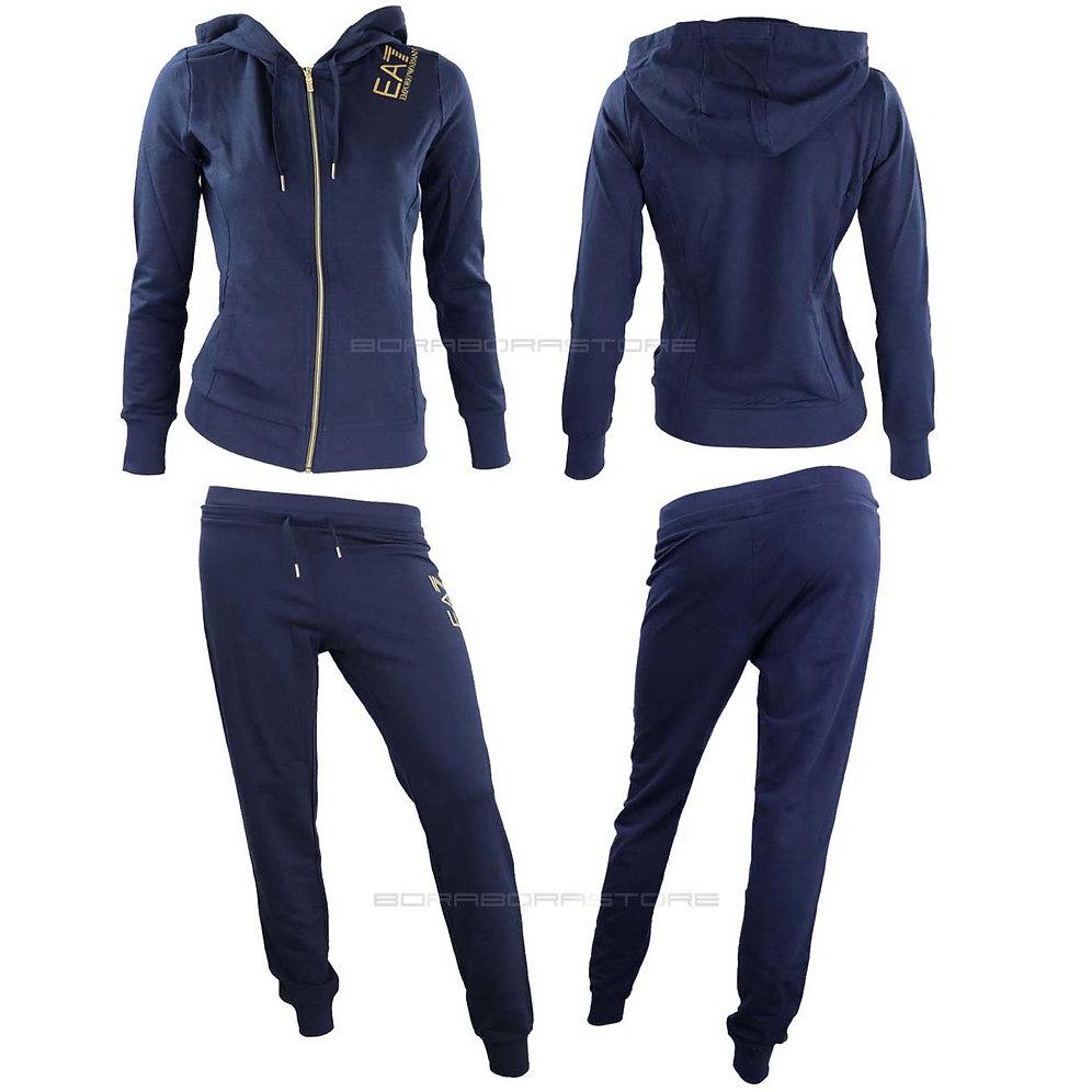 outlet store d9e67 14855 Emporio Armani EA7 Tuta donna mod. 3ztv55 blu