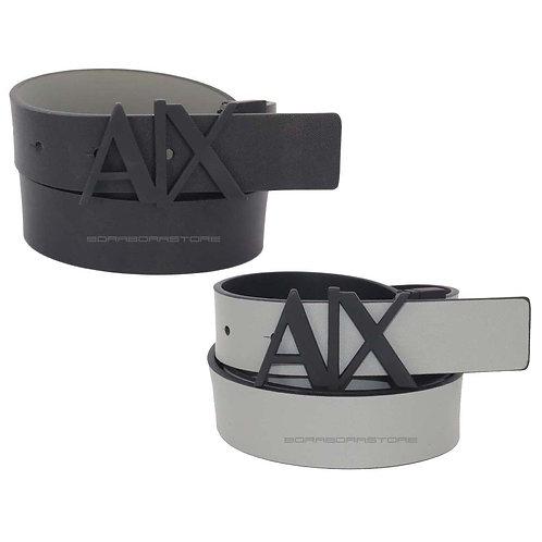 Cintura Uomo Armani Exchange reversibile 951017 CC505 grigio nero