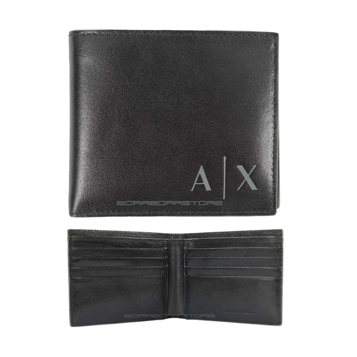 c291855070 Portafoglio Armani Exchange mod. 958097 nero con 8 porta cc in pelle ...