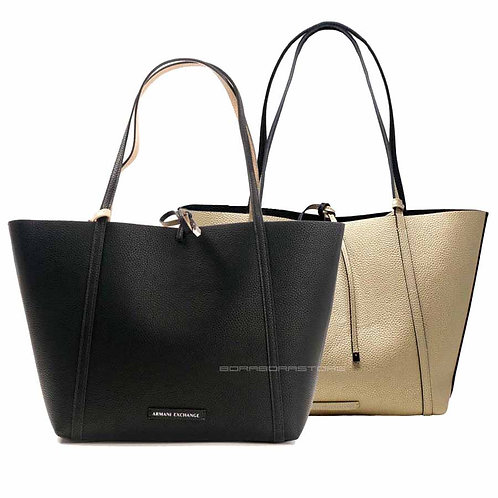 Borsa donna Armani Exchange 942034 CC703 Nero Double Face shopping