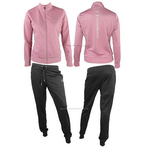 Emporio Armani EA7 Tuta donna  mod. 3ktv79 tj26z pink nero