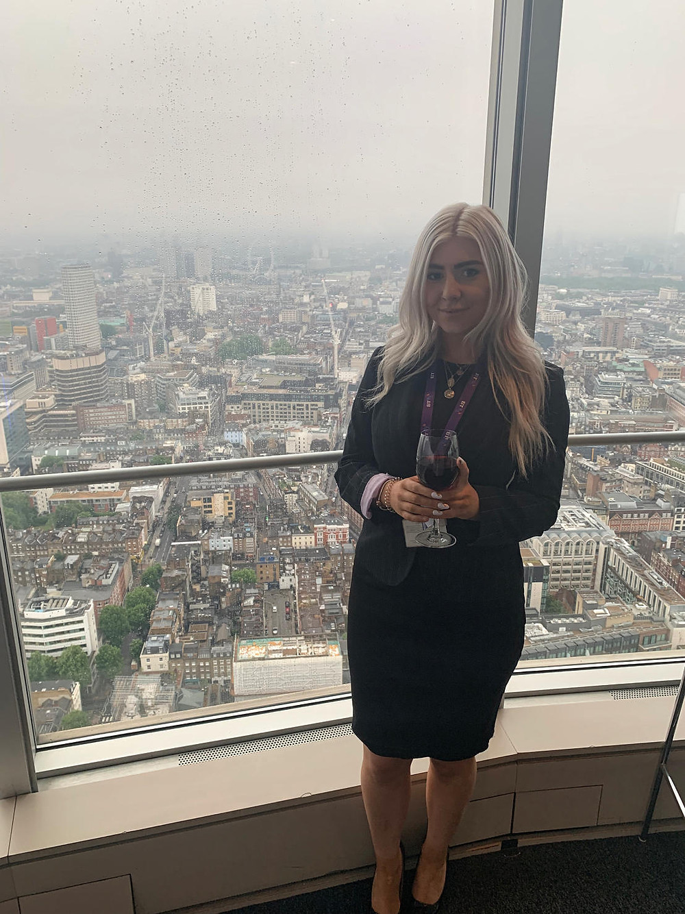 Samantha represented the company at a recent conference in the BT Tower!