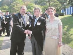 With Prime Minister Junichiro Koizumi