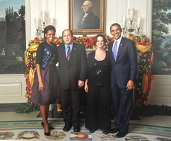 With President Barak Obama and First Lady Michelle Obama